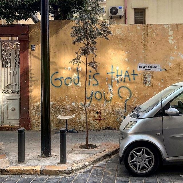 Smart question!  if_not_you_then_who ::::::::::: existensialism  walltalk... (Gemmayzeh Gouraud Street)